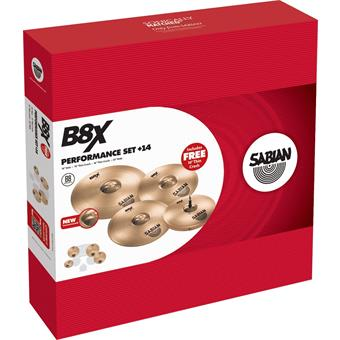 "Sabian B8X Performance Pack with 18"" Free Crash cymbalenset"