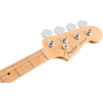Fender American Professional Precision Bass MN Olympic White 4-snarige basgitaar