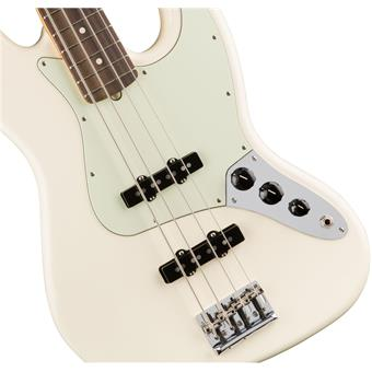 Fender American Professional Jazz Bass RW Olympic White 4 string bass guitar