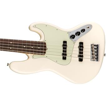 Fender American Professional Jazz Bass V RW Olympic White 5/6 string bass