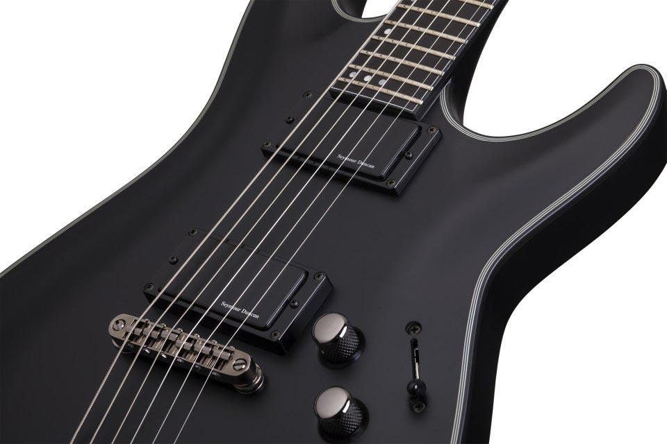 schecter blackjack sls c 1 active satin black keymusic. Black Bedroom Furniture Sets. Home Design Ideas