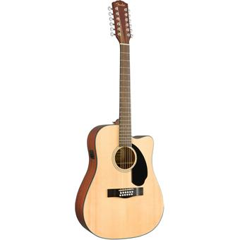 Fender CD-60SCE 12-String Natural acoustic-electric dreadnought guitar