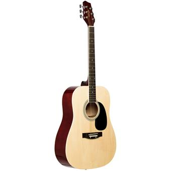 Stagg SA20D Natural dreadnought guitar