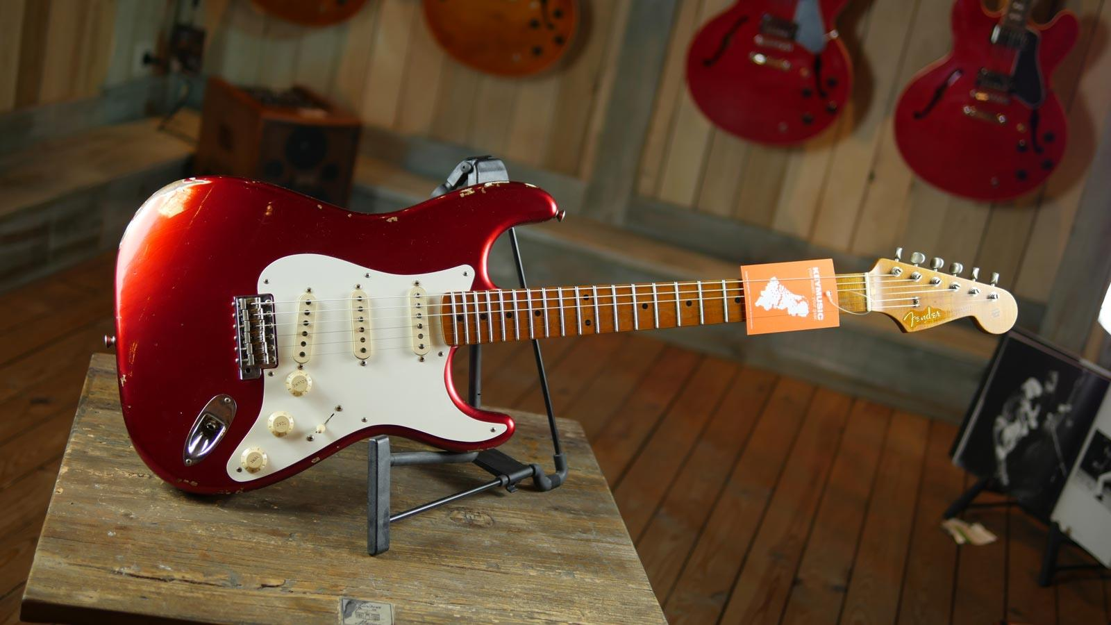 Fender Custom Shop 57 Stratocaster Relic Candy Apple Red Electric Guitars