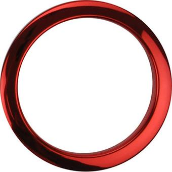 "BassDrum O's 5"" Red Chrome Drum O's accessory for drum head"