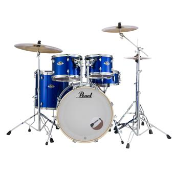 Pearl EXX725SBR/C717 High Voltage Blue starter drum kit