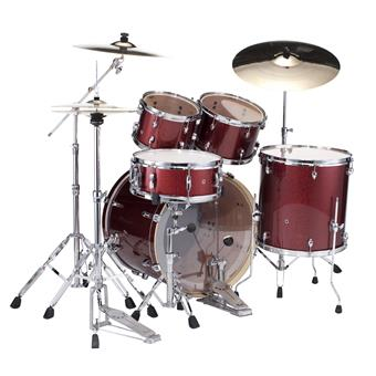Pearl EXX725SBR/C704 Black Cherry Glitter starter drum kit