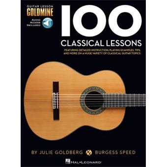 Hal Leonard 100 Classical Lessons classical guitar song book