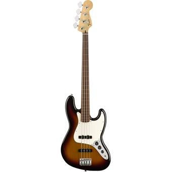Fender Standard Jazz Bass Fretless PF Brown Sunburst fretloze basgitaar