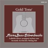 Gold Tone MicroBass LaBella 'Silverback' Silver-Wrapped Nylon Strings