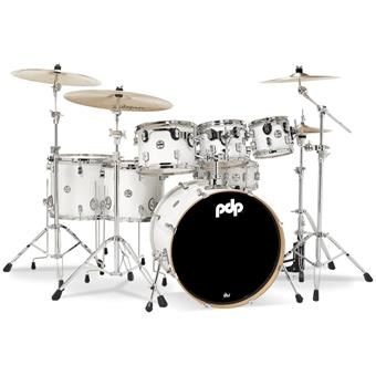 DW PDP CM7 Concept Maple Pearlescent White fusion drumkit