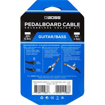 Boss BCK-6 Solderless Pedalboard Cable Kit gitaarkabel