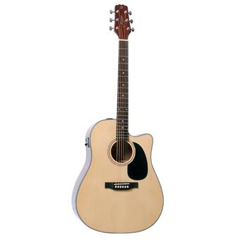 Morgan Guitars W104CE Natural acoustic-electric dreadnought guitar