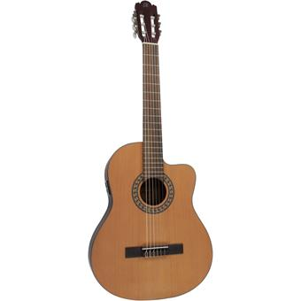 Morgan Guitars CG11CE DLX Natural Matt classical guitar with electronics