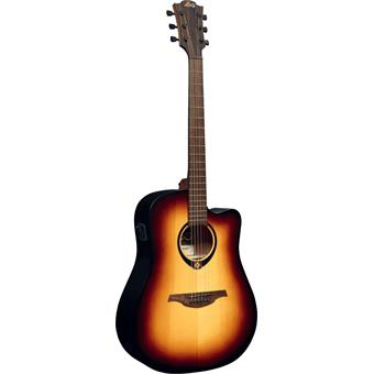 Lâg Tramontane T70DCE-BRB Brown Burst acoustic-electric cutaway dreadnought guitar
