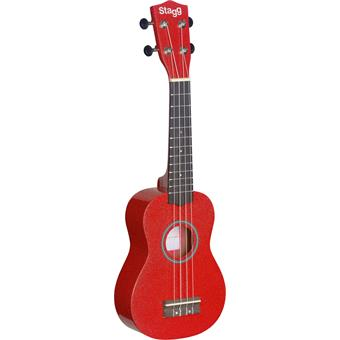 Stagg US-RED Traditional Soprano Ukulele Red ukulele
