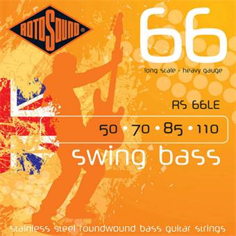 Rotosound RS66LE Swing Bass 66 Stainless Steel Bass Guitar Strings 50 70 85 110
