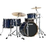 Tama Superstar Hyperdrive Duo Maple ML40HZBN2 Satin Blue Vertical Stripe