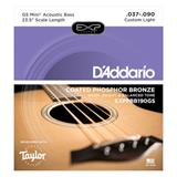 D'Addario EXPPBB190GS Coated Phosphor Bronze Acoustic Taylor GS Mini Bass 37-90