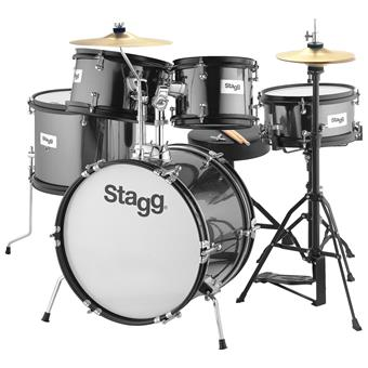 Stagg TIM JR 5/16B Black Kinderdrumstel