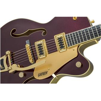 Gretsch G5420TG 135th Anniversary Electromatic Dark Cherry Metallic/Casino Gold semi-akoestische gitaar