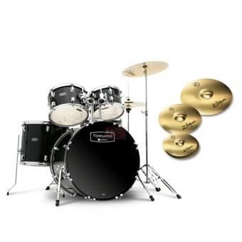 Mapex TND5295TZDK Black starter drum kit