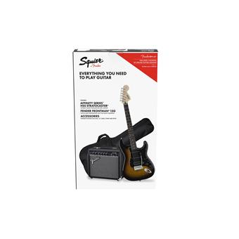Squier Affinity Series Stratocaster HSS Pack Brown Sunburst electric guitar pack