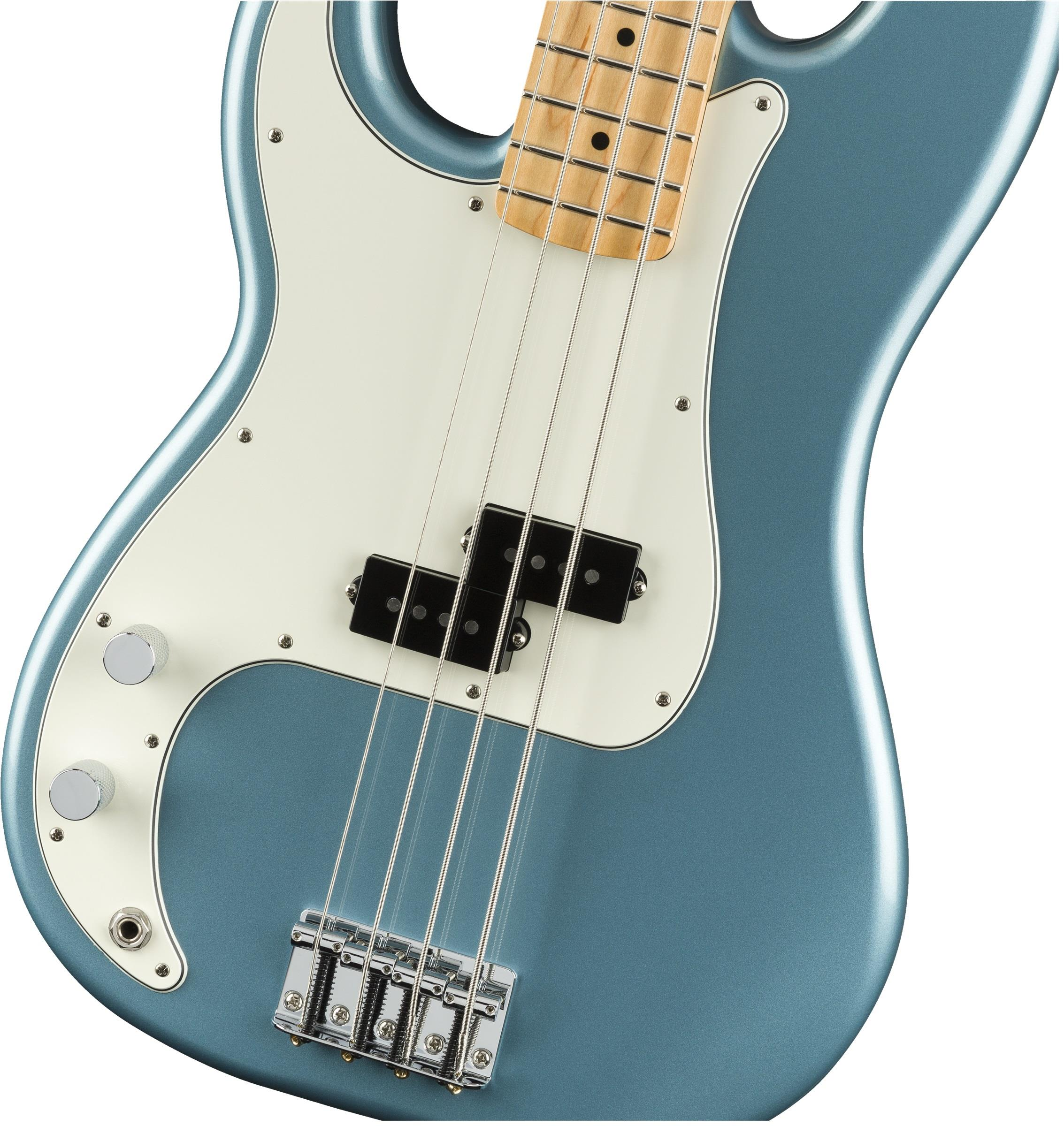 Fender Player Precision Bass Left Handed Mn Tidepool Keymusic Accurate Tone Control Guitar
