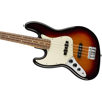 Fender Player Jazz Bass Left Handed PF 3 Tone Sunburst linkshandige basgitaar