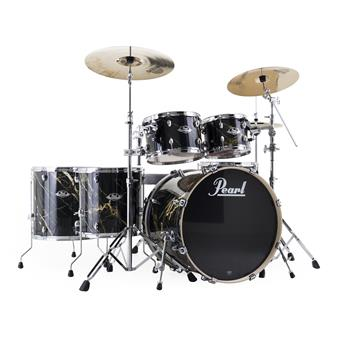 Pearl EXA726XS/C770 Export Artisan II Limited Black & Gold Marble rock drum kit