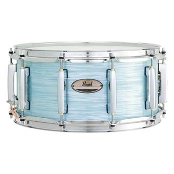 "Pearl MCT1455S Masters Maple Complete Snare 14""x6.5"" Ice Blue Oyster maple snaredrum"