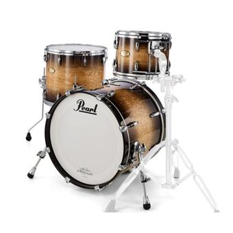 Pearl Masterworks Urban Shellset Natural To Black Over Flame Maple fusion ketelset