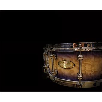 "Pearl Masterworks Urban Snare 14""x5.5"" Natural To Black Over Flame Maple set de fûts fusion"