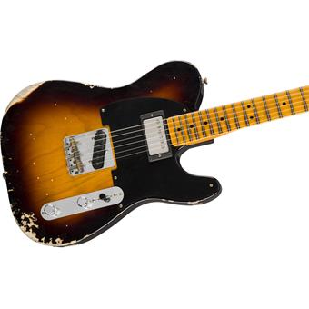 Fender Custom Shop 2018 Limited '51 Telecaster HS Relic MN Wide-Fade 2-Color Sunburst elektrische gitaar