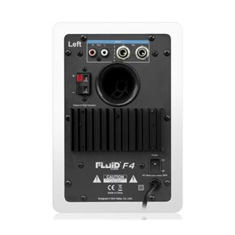 Fluid Audio F4W White set active nearfield monitor
