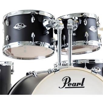 Pearl EXX725SBR/C761 Satin Shadow Black starter drum kit