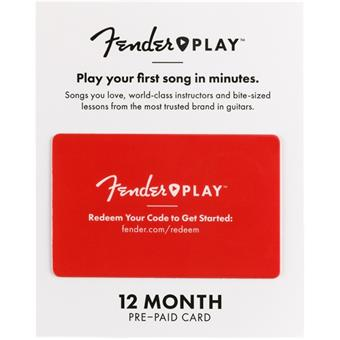 Fender Play 12 Month Subscription Prepaid Card  guitar training tool