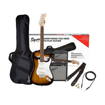 Squier Stratocaster® Pack, Laurel Fingerboard, Brown Sunburst electric guitar pack