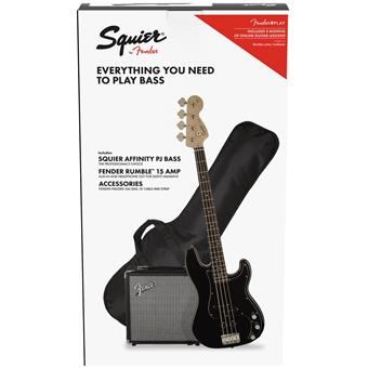 Squier Affinity Series Precision Bass PJ Pack Black basgitaarpakket
