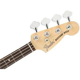 Fender American Performer Mustang Bass Arctic White short scale bass guitar