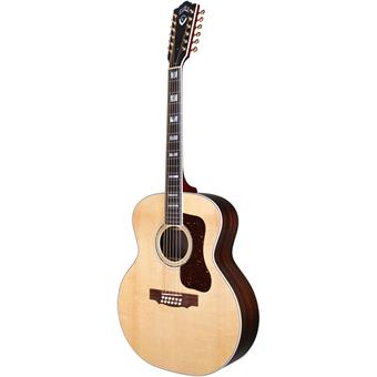Guild F-512E Natural jumbo gitaar