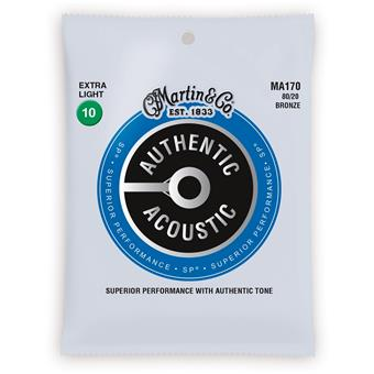 Martin Strings MA170 Authentic Acoustic SP 80/20 Bronze Extra Light 010 snarenset voor akoestische gitaar