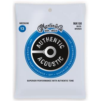 Martin Strings MA150 Authentic Acoustic SP 80/20 Bronze Medium 013 snarenset voor akoestische gitaar