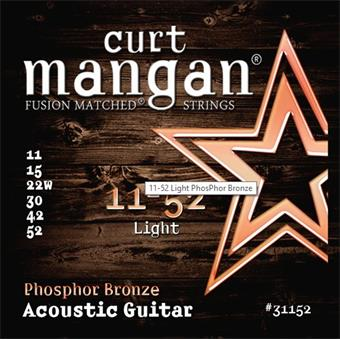 Curt Mangan Acoustic Phosphor Bronze 11-52 011 acoustic guitar string set