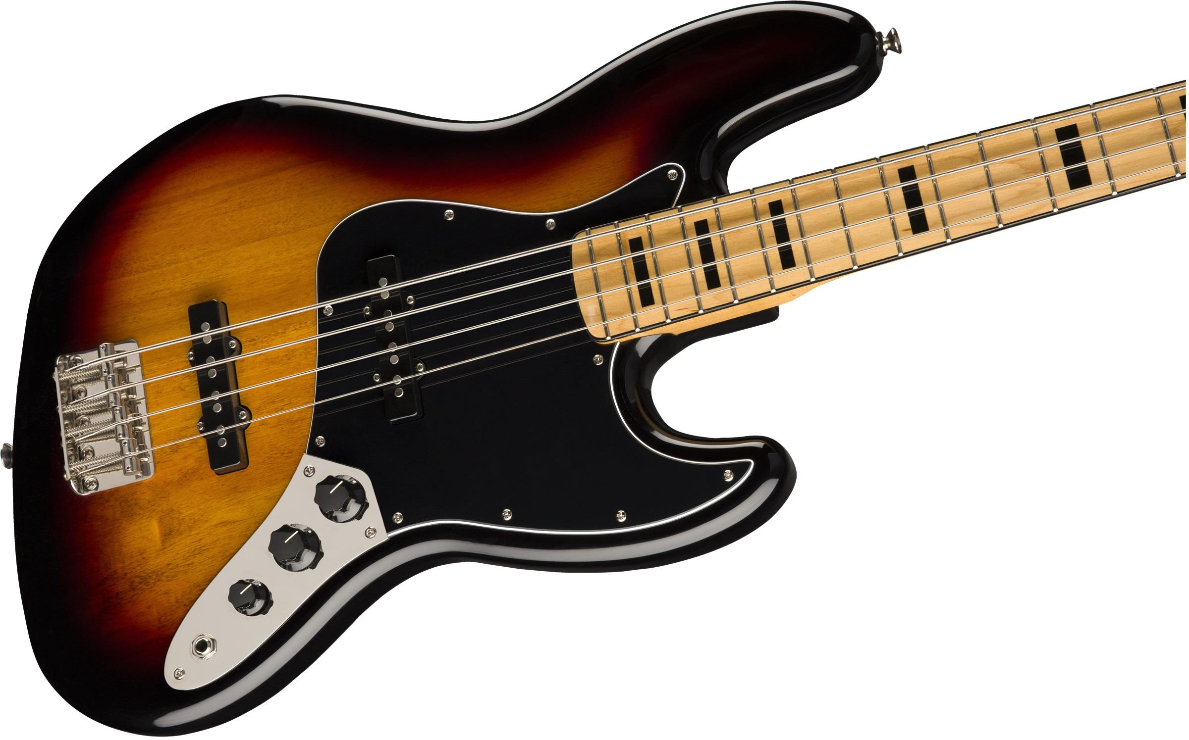 squier classic vibe  u0026 39 70s jazz bass mn 3 color sunburst