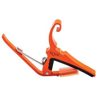 Kyser QUICK-CHANGE® ACOUSTIC - ORANGE BLAZE capo for electric and acoustic guitar