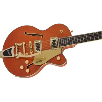 Gretsch G5655TG Electromatic Center Block Jr Single Cut Bigsby Orange Stain semi-akoestische gitaar