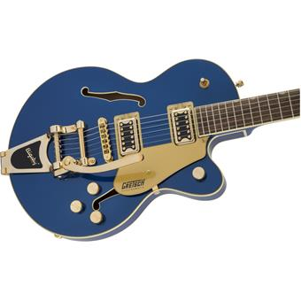 Gretsch G5655TG Electromatic Center Block Jr Single Cut Bigsby Azure Metallic semi-acoustic guitar