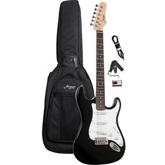 Morgan Guitars ST250 Black Guitar Pack electric guitars