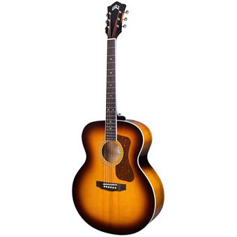 Guild F-250E Deluxe Maple Antique Burst Gloss guitare jumbo